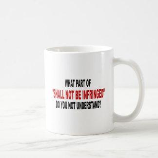 Shall Not Be Infringed Classic White Coffee Mug