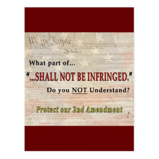 Shall NOT be Infringed Postcard