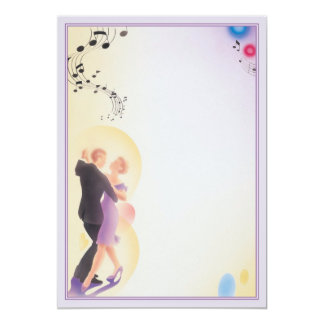 Shall We Dance © 5x7 Paper Invitation Card