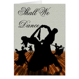 Shall We Dance Cards