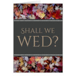 """[ Thumbnail: """"Shall We Wed?"""" + Rustic Fallen Autumn Leaves ]"""
