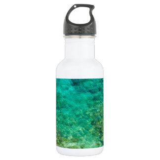 Shallow clear water with coral stainless steel water bottle