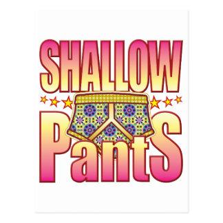 Shallow Flowery Pants Postcard