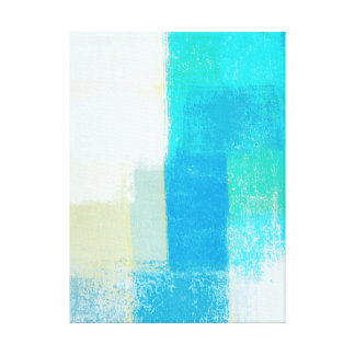 'Shallow' Turquoise Abstract Art Canvas Print
