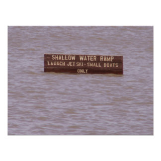 Shallow Water Ramp Poster
