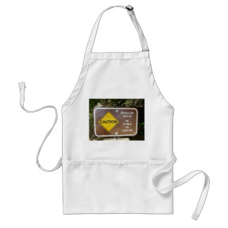 Shallow Water Sign Apron