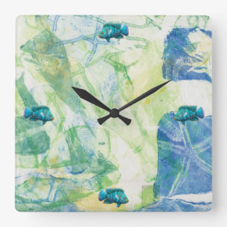 Shallow Water Square Wall Clock