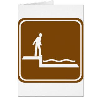 Shallow Water Warning Highway Sign Greeting Card