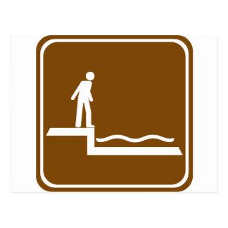 Shallow Water Warning Highway Sign Postcard