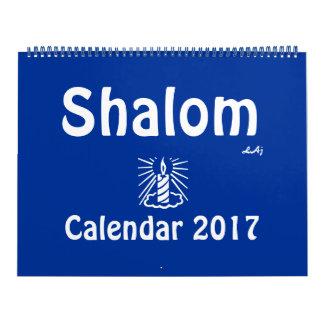 Shalom 2017 Blue Light Candle Calendar Huge 2 Page