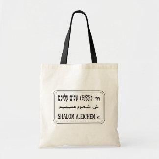Shalom Aleichem Street, Tel Aviv, Israel Tote Bag