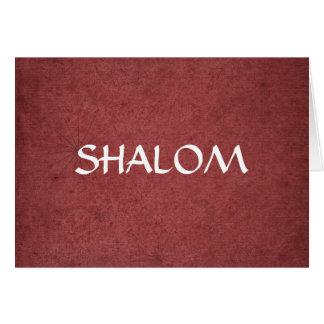 Shalom apenó rojo tarjeta de felicitación