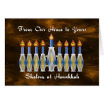 Shalom at Hanukkah, Our Home to Yours Card