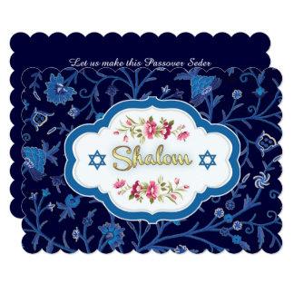 Shalom at Pesach.Custom Passover Seder Invitations