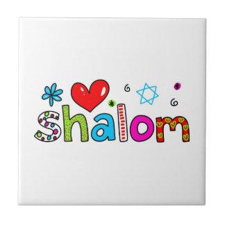 Shalom Azulejo Cuadrado Pequeño