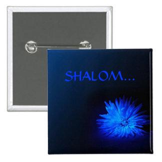 SHALOM… Botones religiosos Pin Cuadrado