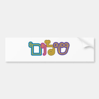 shalom bumper sticker