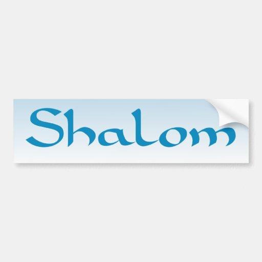 Shalom Bumpersticker Pegatina De Parachoque