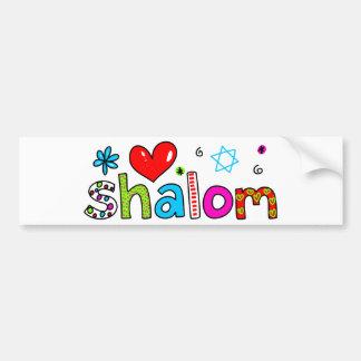 Shalom Pegatina De Parachoque