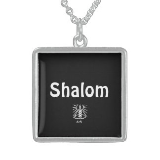 Shalom Candle Square Necklace