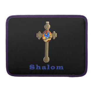 Shalom christian  cross sleeve for MacBook pro