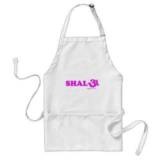 Shalom con OM en sánscrito Delantal