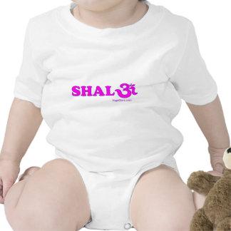 Shalom con OM en sánscrito Trajes De Bebé