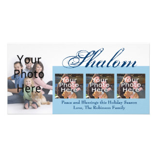Shalom Custom Hanukkah Photo Cards