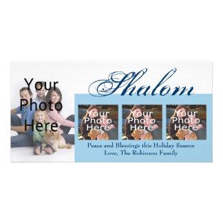 Shalom Custom Hanukkah Photo Cards