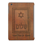 Shalom de madera tallado funda para iPad mini retina