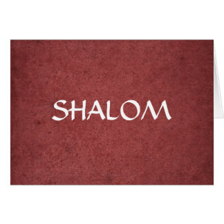 Shalom Distressed Red Greeting Card