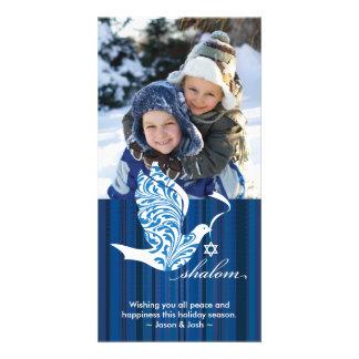 Shalom Dove Vertical Card