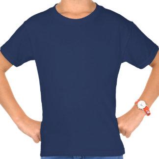 Shalom en fractal azul camisetas
