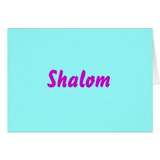 Shalom (espacio en blanco dentro) tarjeta de felicitación