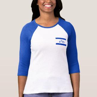 Shalom Flag In Hebrew Tee Shirts