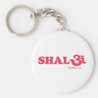 Shalom flowers keychain