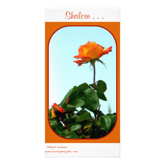 Shalom Greeting Cards Personalized Photo Card
