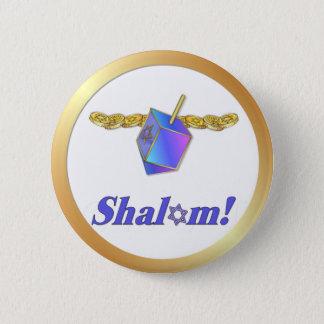 Shalom Hanukkah Button
