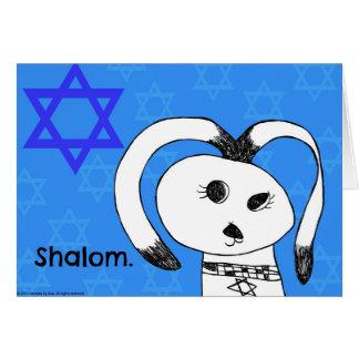 Shalom! Hanukkah Dog Greeting Card
