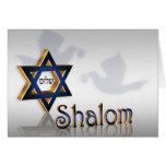 Shalom Hanukkah greeting Greeting Card
