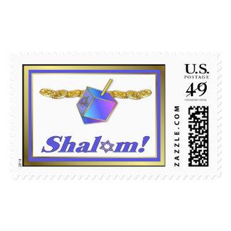 Shalom Hanukkah Postage