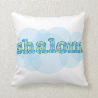 shalom hebreo con el modelo del argyle almohada