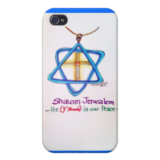 Shalom Jerusalem Capital of Israel iPhone cover Covers For iPhone 4