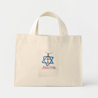 Shalom Jerusalem ~He, Y'shua is our Peace Mini Tote Bag