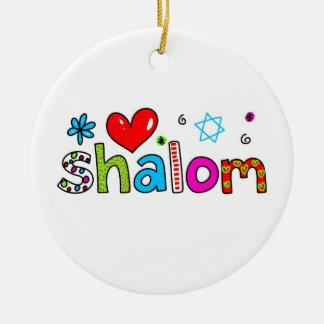 Shalom Christmas Tree Ornaments