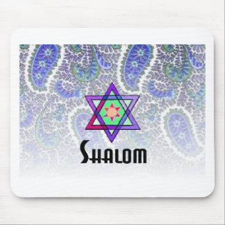 Shalom Paisley blue Mouse Pad