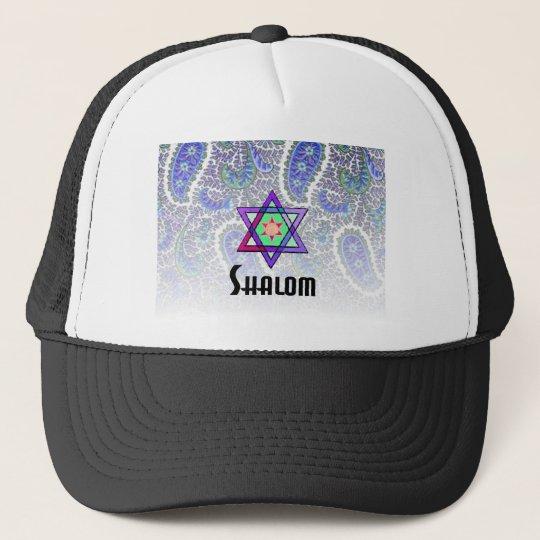 Shalom Paisley blue Trucker Hat