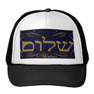 ¡Shalom! ¡Paz! Gorra de la malla del camionero