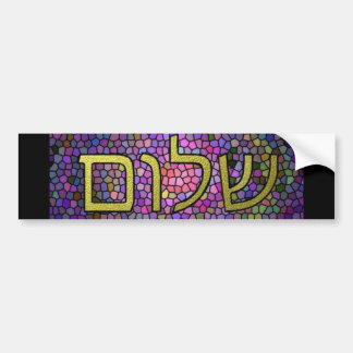 Shalom Peace Bumper Sticker
