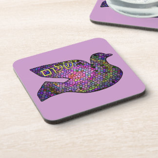 Shalom Peace Dove Coaster Set